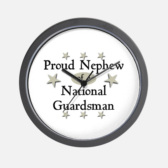 Proud Nephew National Guard Wall Clock