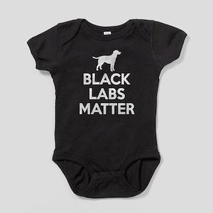 Black Labs Matter (white) Baby Bodysuit