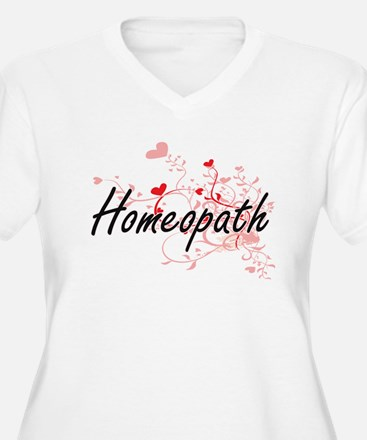 Homeopath Artistic Job Design wi Plus Size T-Shirt