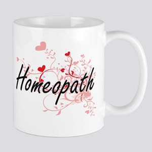 Homeopath Artistic Job Design with Hearts Mugs