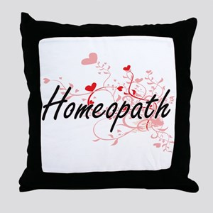 Homeopath Artistic Job Design with He Throw Pillow