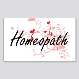 Homeopath Artistic Job Design with Hearts Sticker