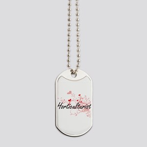 Horticulturist Artistic Job Design with H Dog Tags