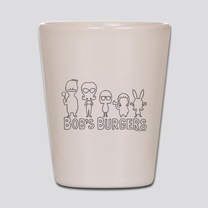 Bob's Burgers Family Outline Shot Glass