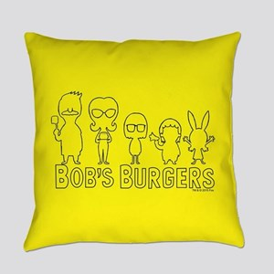 Bob's Burgers Family Outline Everyday Pillow