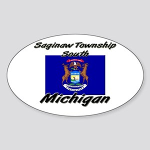 Saginaw Township South Michigan Oval Sticker