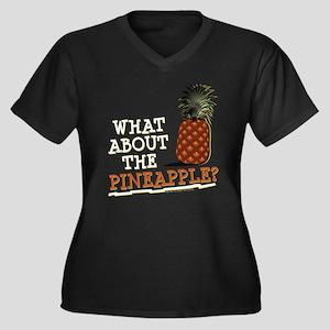 HIMYM Pineap Women's Plus Size V-Neck Dark T-Shirt