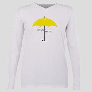 HIMYM Umbrella Plus Size Long Sleeve Tee