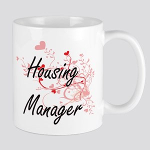 Housing Manager Artistic Job Design with Hear Mugs