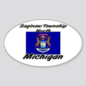 Saginaw Township North Michigan Oval Sticker