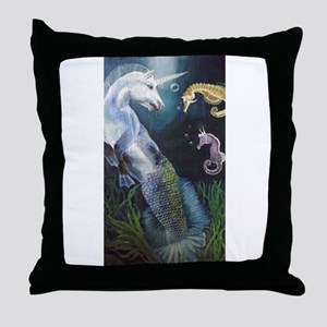 Mermacorn Throw Pillow