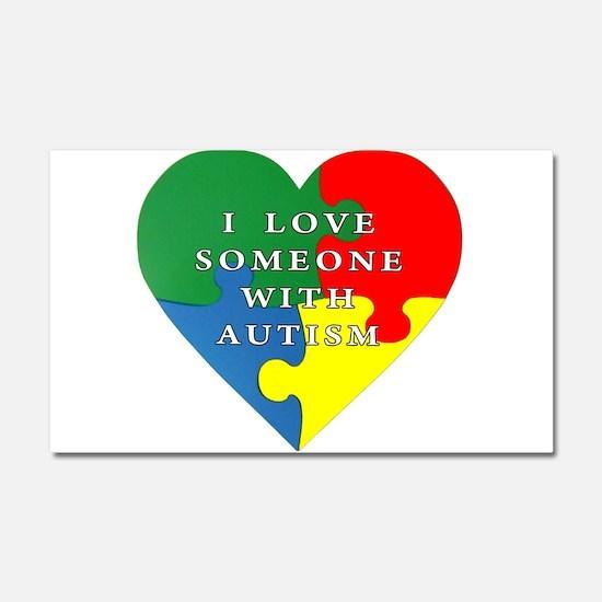 Autism Love Car Magnet 20 x 12