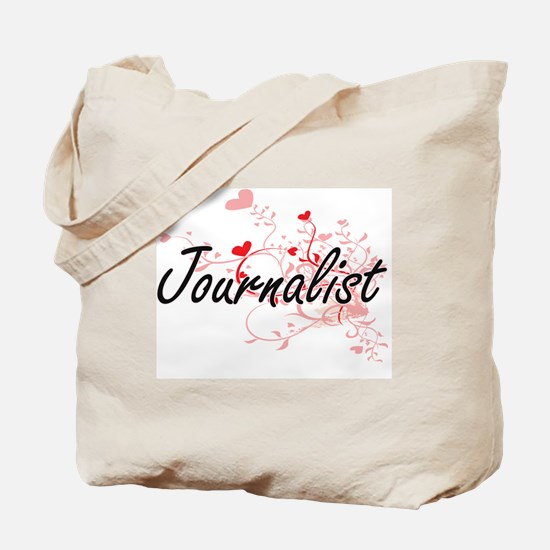 Journalist Artistic Job Design with Heart Tote Bag