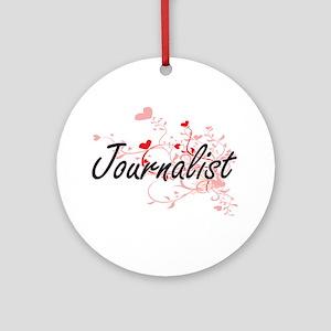 Journalist Artistic Job Design with Round Ornament