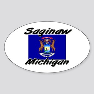 Saginaw Michigan Oval Sticker