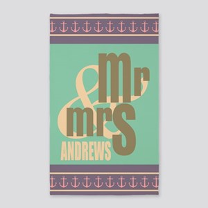 Pastel Mr. and Mrs. Personalized Area Rug
