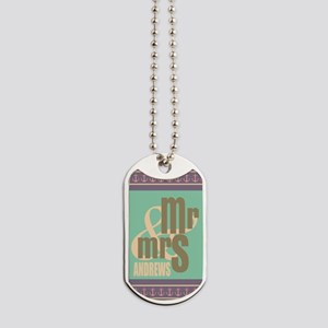 Pastel Mr. and Mrs. Personalized Dog Tags