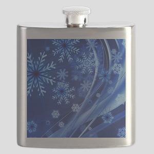Blue Snowflakes Flask