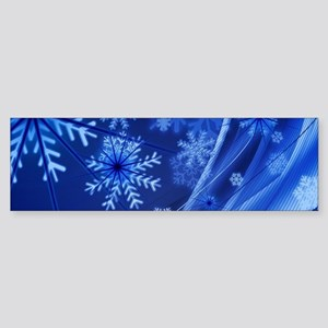 Blue Snowflakes Bumper Sticker
