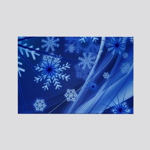 Blue Snowflakes Magnets