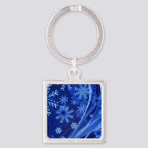 Blue Snowflakes Keychains