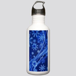 Blue Snowflakes Stainless Water Bottle 1.0L