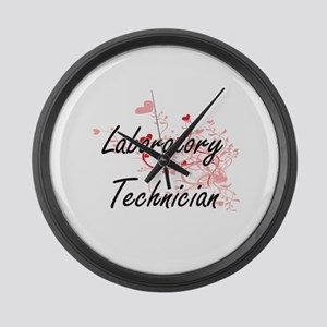 Laboratory Technician Artistic Jo Large Wall Clock