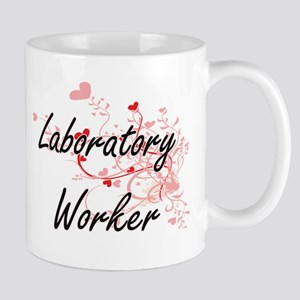 Laboratory Worker Artistic Job Design with He Mugs