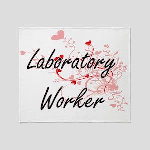 Laboratory Worker Artistic Job Desig Throw Blanket