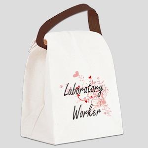 Laboratory Worker Artistic Job De Canvas Lunch Bag