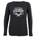I'm Your Huckleberry! Plus Size Long Sleeve Tee