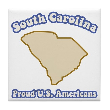 Carolina US Americans Tile Coaster