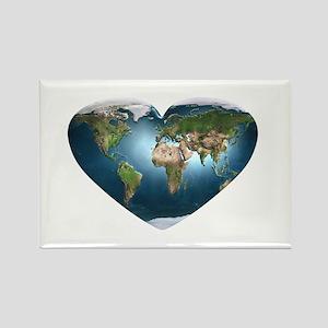 Earth Heart Rectangle Magnet