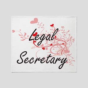 Legal Secretary Artistic Job Design Throw Blanket