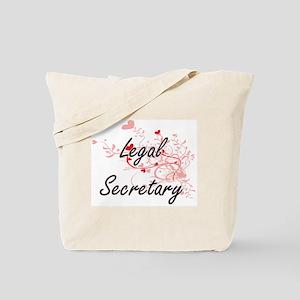 Legal Secretary Artistic Job Design with Tote Bag