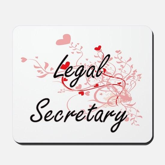 Legal Secretary Artistic Job Design with Mousepad