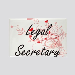 Legal Secretary Artistic Job Design with H Magnets