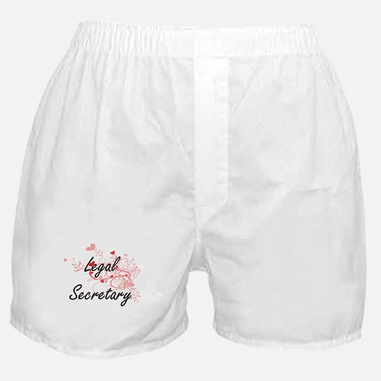 Legal Secretary Artistic Job Design w Boxer Shorts