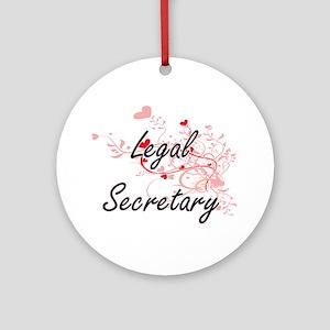 Legal Secretary Artistic Job Design Round Ornament