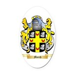 March Oval Car Magnet