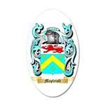 Mapletoft 35x21 Oval Wall Decal