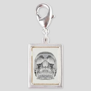 Crystal Skull Silver Portrait Charm