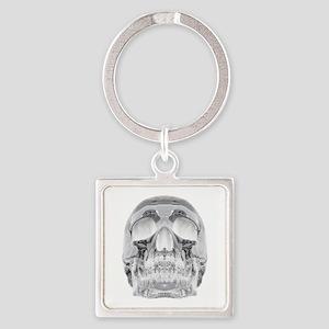 Crystal Skull Square Keychain