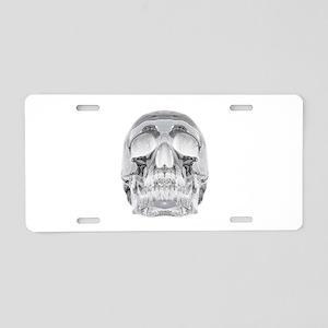 Crystal Skull Aluminum License Plate
