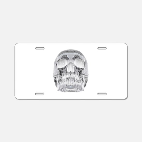 Crystal Skull Aluminum License Plate