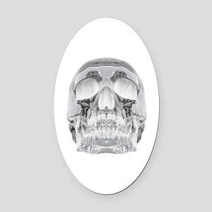 Crystal Skull Oval Car Magnet