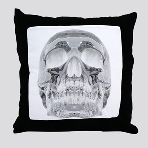 Crystal Skull Throw Pillow