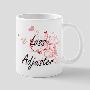 Loss Adjuster Artistic Job Design with Hearts Mugs