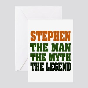 STEPHEN - the legend Greeting Card