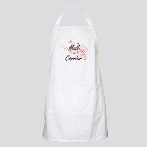Mail Carrier Artistic Job Design with Hearts Apron